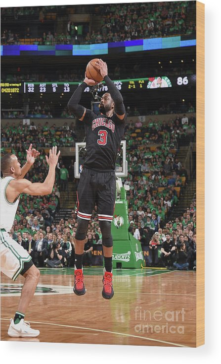 Playoffs Wood Print featuring the photograph Dwyane Wade by Brian Babineau