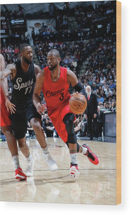 Nba Pro Basketball Wood Print featuring the photograph Dwyane Wade by Chris Covatta