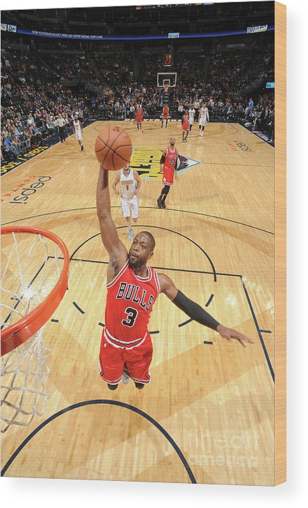 Nba Pro Basketball Wood Print featuring the photograph Dwyane Wade by Garrett Ellwood