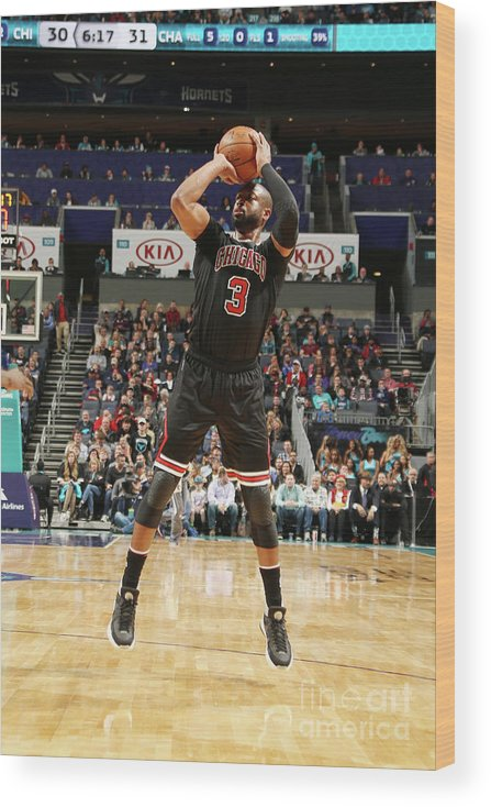 Nba Pro Basketball Wood Print featuring the photograph Dwyane Wade by Kent Smith