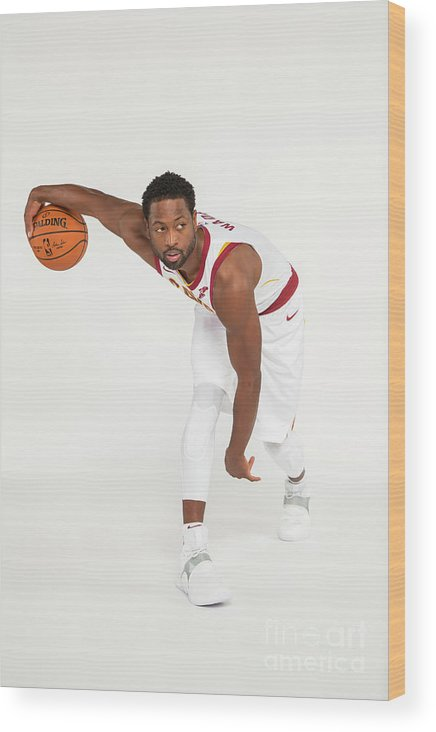 Media Day Wood Print featuring the photograph Dwyane Wade by Michael J. Lebrecht Ii