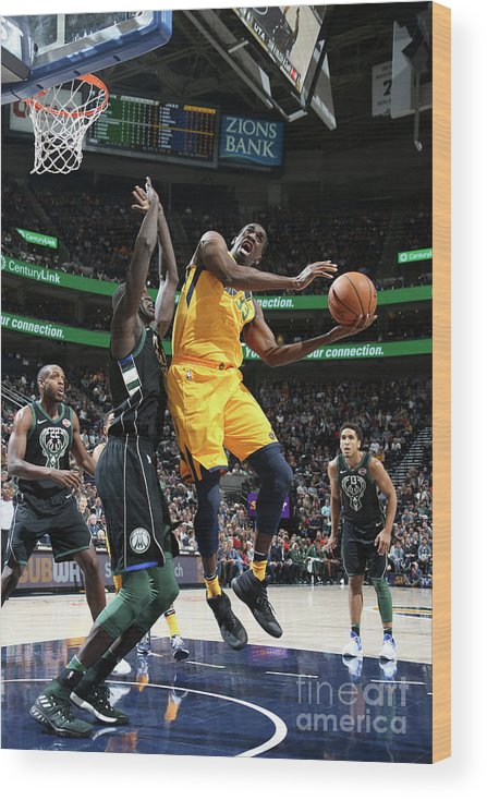 Nba Pro Basketball Wood Print featuring the photograph Ekpe Udoh by Melissa Majchrzak