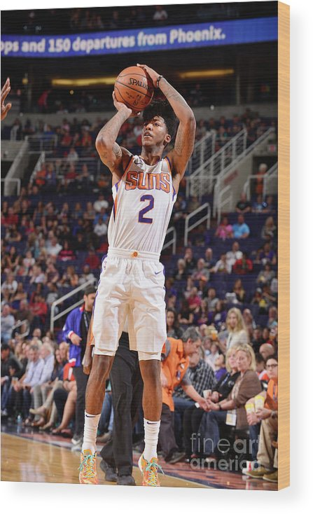 Sports Ball Wood Print featuring the photograph Elfrid Payton by Barry Gossage