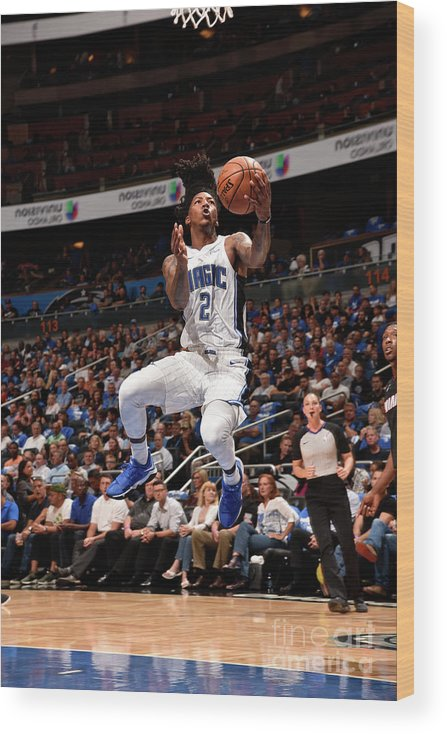 Nba Pro Basketball Wood Print featuring the photograph Elfrid Payton by Gary Bassing