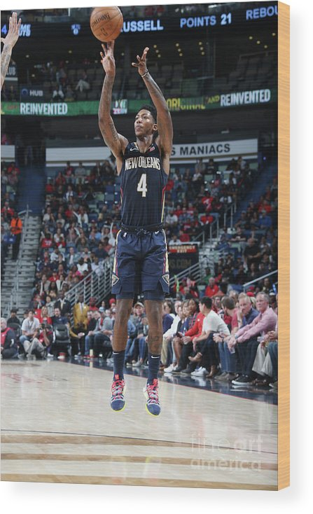 Smoothie King Center Wood Print featuring the photograph Elfrid Payton by Layne Murdoch