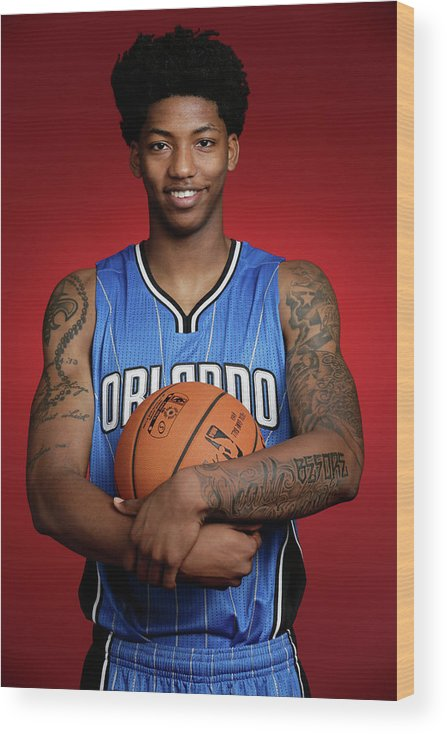 Nba Pro Basketball Wood Print featuring the photograph Elfrid Payton by Steve Freeman