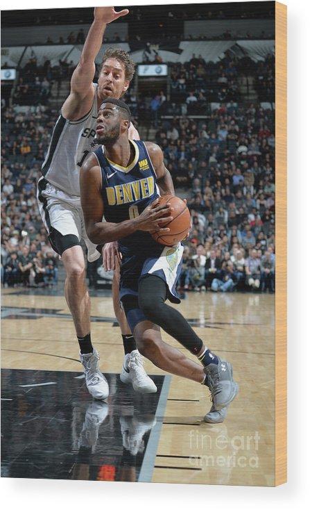 Nba Pro Basketball Wood Print featuring the photograph Emmanuel Mudiay by Mark Sobhani