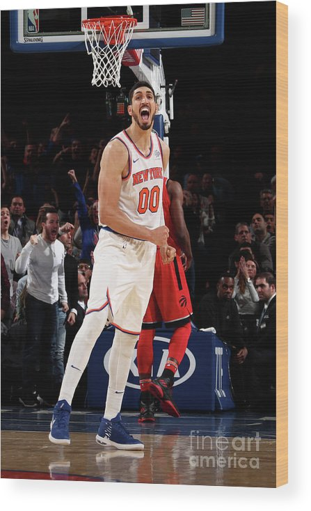 Nba Pro Basketball Wood Print featuring the photograph Enes Kanter by Nathaniel S. Butler