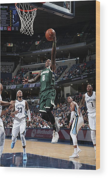 Nba Pro Basketball Wood Print featuring the photograph Eric Bledsoe by Joe Murphy