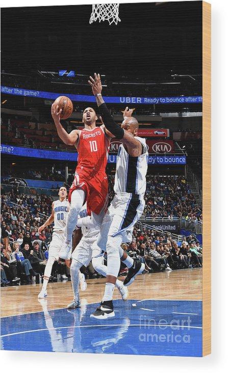 Nba Pro Basketball Wood Print featuring the photograph Eric Gordon by Fernando Medina
