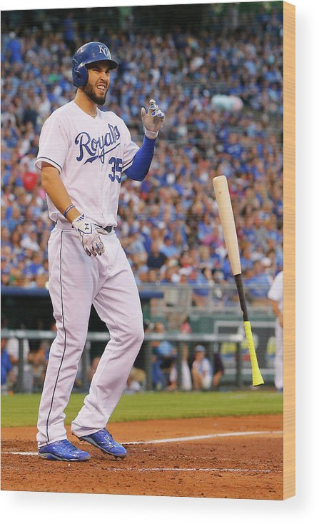 People Wood Print featuring the photograph Eric Hosmer by Kyle Rivas