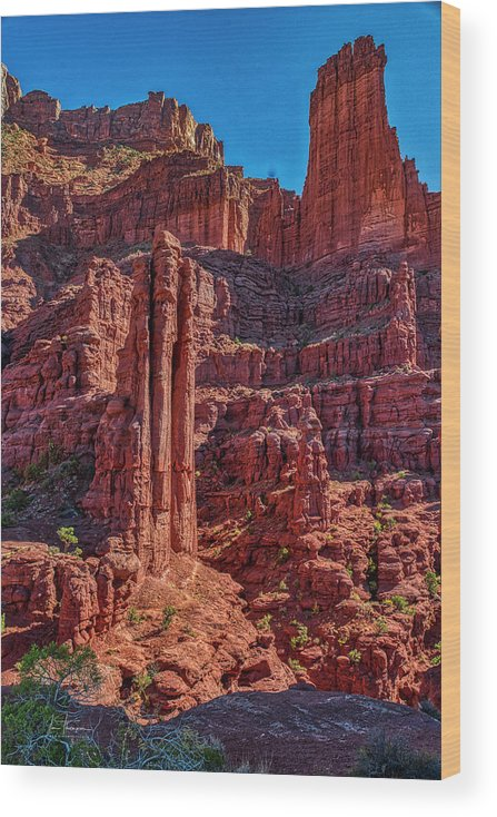 Moab 2020 Wood Print featuring the photograph Fisher Towers by Jim Thompson