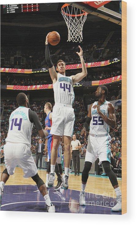 Nba Pro Basketball Wood Print featuring the photograph Frank Kaminsky by Brock Williams-smith