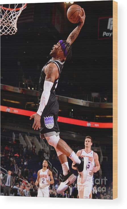 Nba Pro Basketball Wood Print featuring the photograph Frank Mason by Barry Gossage