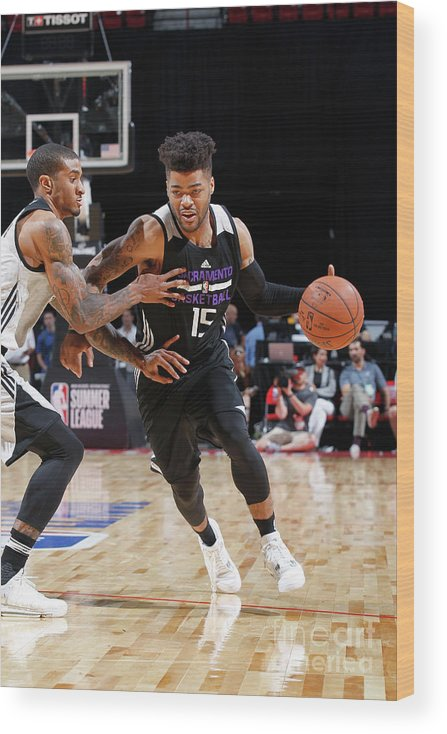 Nba Pro Basketball Wood Print featuring the photograph Frank Mason by Jack Arent