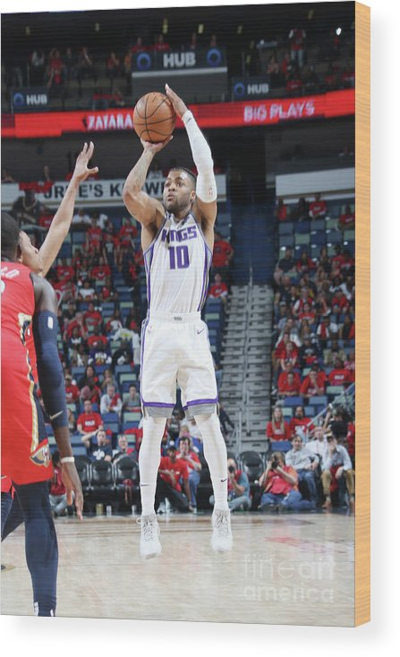 Smoothie King Center Wood Print featuring the photograph Frank Mason by Layne Murdoch Jr.