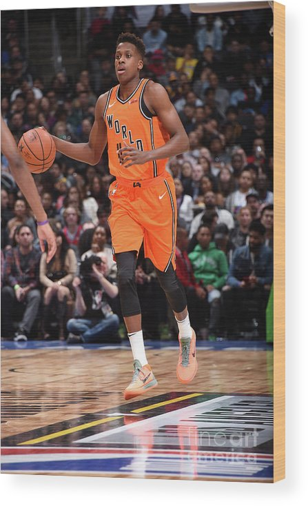 Event Wood Print featuring the photograph Frank Ntilikina by Andrew D. Bernstein