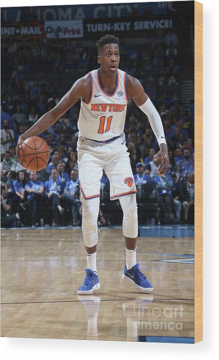 Nba Pro Basketball Wood Print featuring the photograph Frank Ntilikina by Layne Murdoch