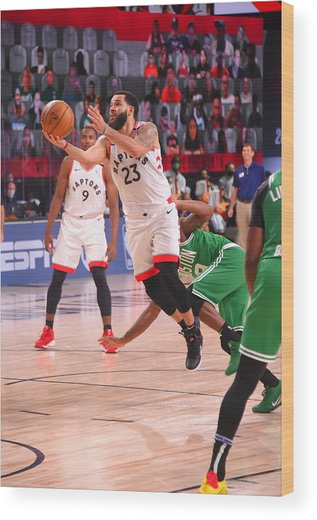 Nba Pro Basketball Wood Print featuring the photograph Fred Vanvleet by Bill Baptist