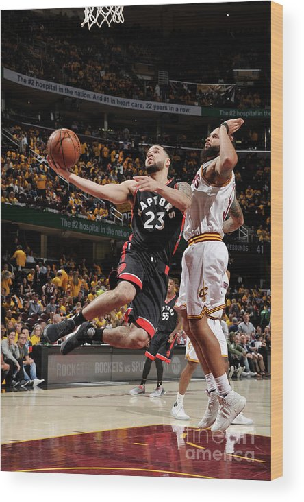 Playoffs Wood Print featuring the photograph Fred Vanvleet by David Liam Kyle