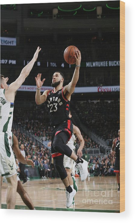 Game Two Wood Print featuring the photograph Fred Vanvleet by Gary Dineen