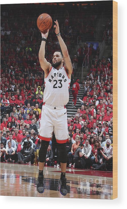 Playoffs Wood Print featuring the photograph Fred Vanvleet by Nathaniel S. Butler