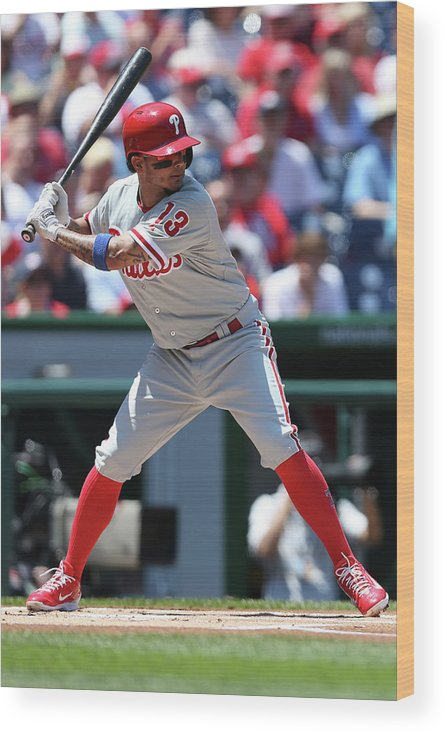 People Wood Print featuring the photograph Freddy Galvis by Patrick Smith
