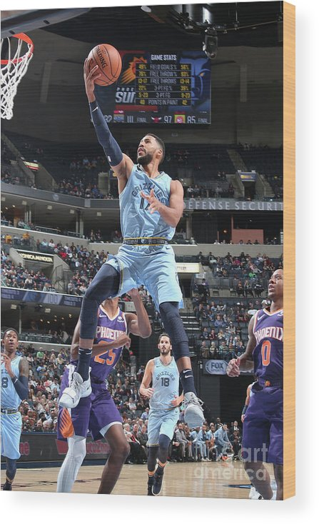 Nba Pro Basketball Wood Print featuring the photograph Garrett Temple by Ned Dishman