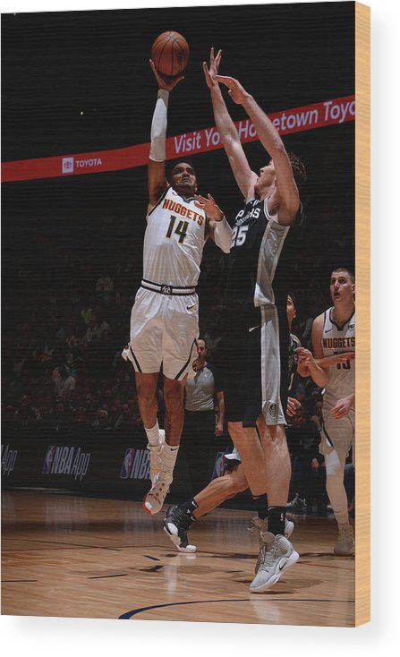 Playoffs Wood Print featuring the photograph Gary Harris by Bart Young