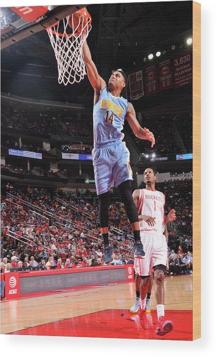 Nba Pro Basketball Wood Print featuring the photograph Gary Harris by Bill Baptist