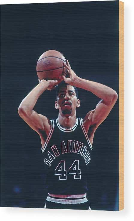 1980-1989 Wood Print featuring the photograph George Gervin by Bill Baptist