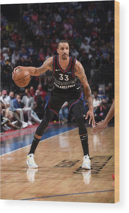 Playoffs Wood Print featuring the photograph George Hill by David Dow