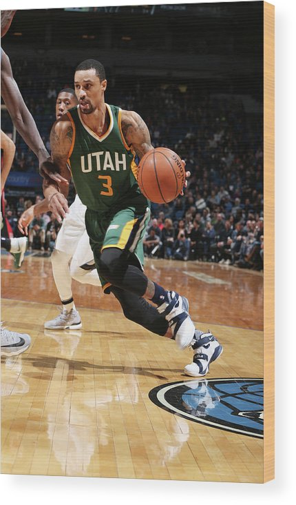 Nba Pro Basketball Wood Print featuring the photograph George Hill by David Sherman