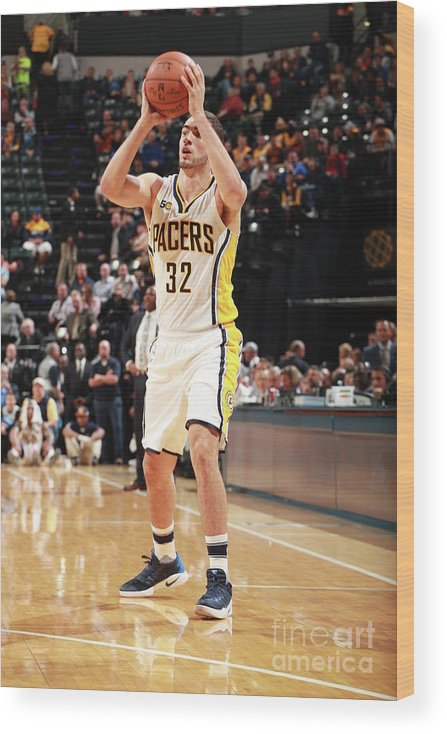 Nba Pro Basketball Wood Print featuring the photograph Georges Niang by Jeff Haynes