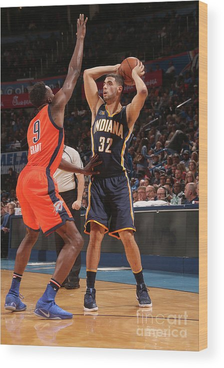 Nba Pro Basketball Wood Print featuring the photograph Georges Niang by Layne Murdoch