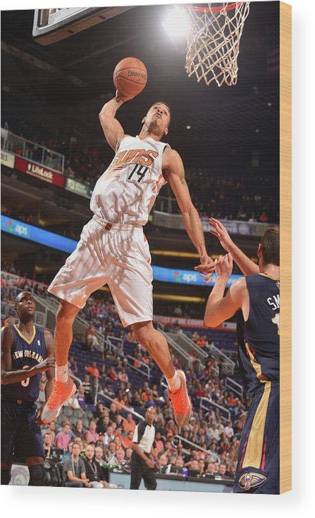 Nba Pro Basketball Wood Print featuring the photograph Gerald Green by Barry Gossage