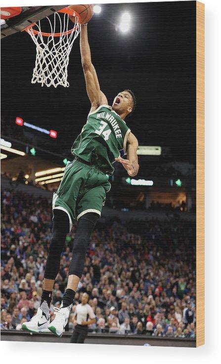 Nba Pro Basketball Wood Print featuring the photograph Giannis Antetokounmpo by Jordan Johnson
