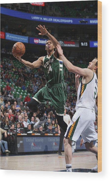 Nba Pro Basketball Wood Print featuring the photograph Giannis Antetokounmpo by Melissa Majchrzak