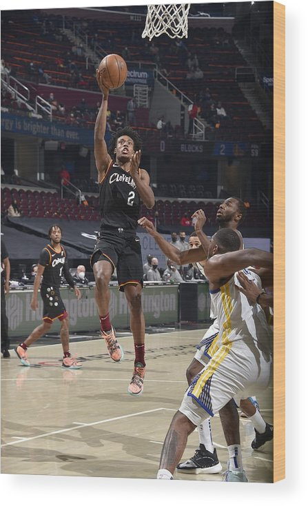 Nba Pro Basketball Wood Print featuring the photograph Golden State Warriors v Cleveland Cavaliers by David Liam Kyle