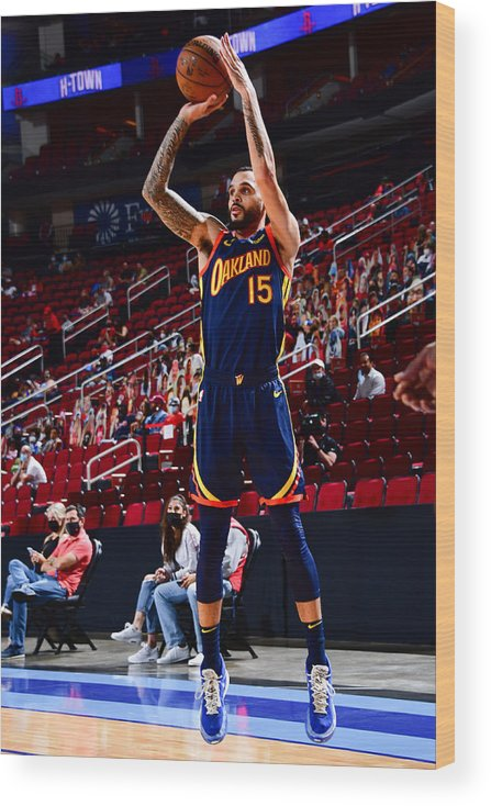 Mychal Mulder Wood Print featuring the photograph Golden State Warriors v Houston Rockets by Cato Cataldo