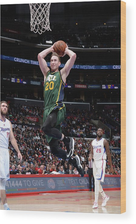 Nba Pro Basketball Wood Print featuring the photograph Gordon Hayward by Andrew D. Bernstein