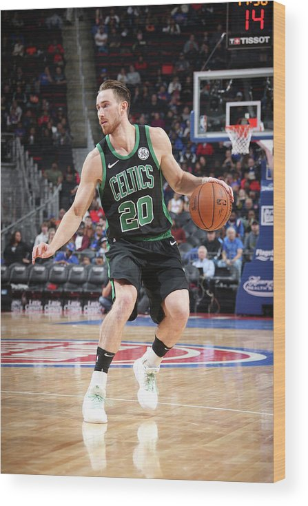 Nba Pro Basketball Wood Print featuring the photograph Gordon Hayward by Brian Sevald