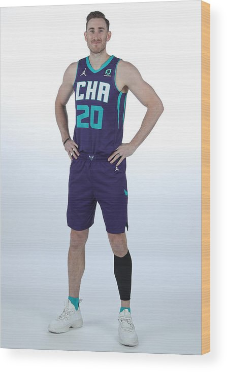 Media Day Wood Print featuring the photograph Gordon Hayward by Kent Smith