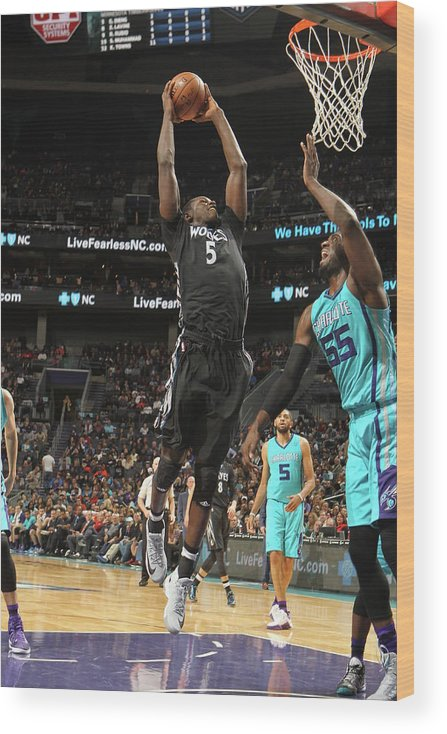 Nba Pro Basketball Wood Print featuring the photograph Gorgui Dieng by Brock Williams-smith