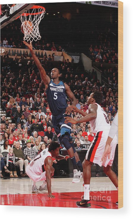 Nba Pro Basketball Wood Print featuring the photograph Gorgui Dieng by Cameron Browne