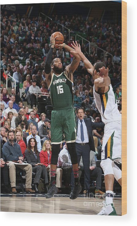 Nba Pro Basketball Wood Print featuring the photograph Greg Monroe by Melissa Majchrzak