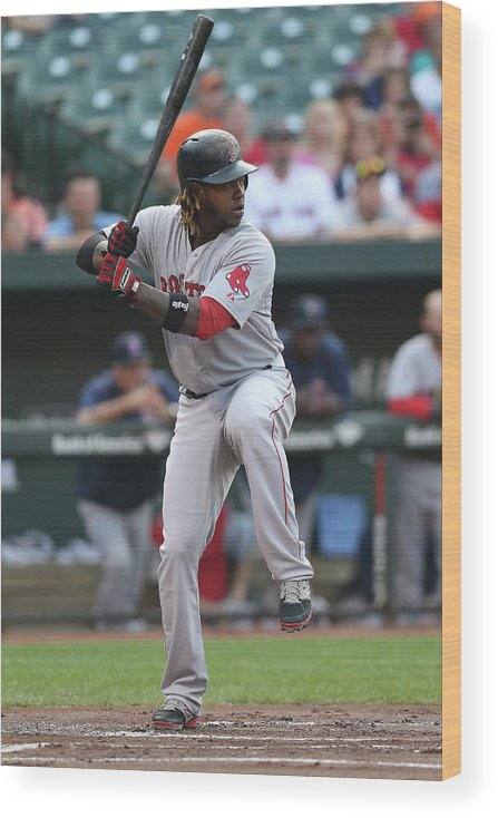 People Wood Print featuring the photograph Hanley Ramirez by Patrick Smith