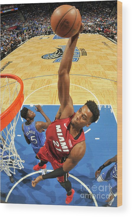 Nba Pro Basketball Wood Print featuring the photograph Hassan Whiteside by Fernando Medina