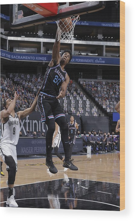 Nba Pro Basketball Wood Print featuring the photograph Hassan Whiteside by Rocky Widner