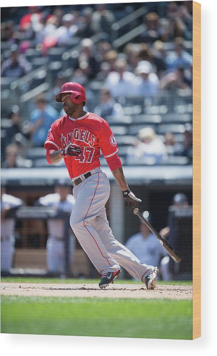 American League Baseball Wood Print featuring the photograph Howie Kendrick by Rob Tringali